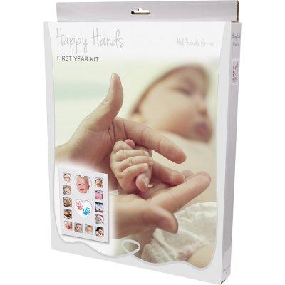 Grand cadre pêle mêle avec empreinte Happy hands