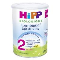 Lait bébé hipp 2 combiotic biologique pour nourissons