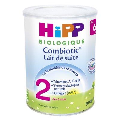 Lait bébé hipp 2 combiotic biologique pour nourissons Hipp