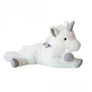 Peluche bébé licorne argent 60cm