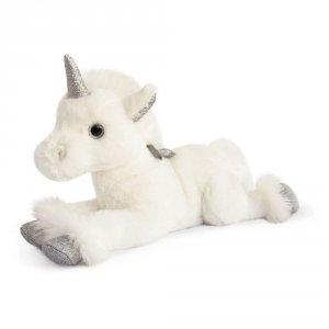 Peluche bébé licorne argent 35cm
