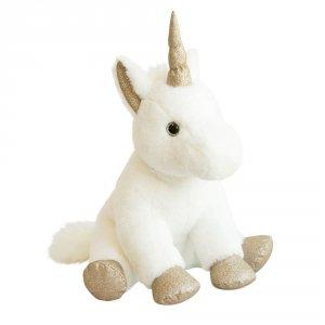 Peluche bébé licorne or 45cm