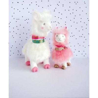 Peluche bébé lama blanc 20 cm Histoire d ours