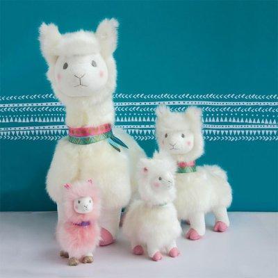 Peluche bébé lama blanc 50 cm Histoire d ours