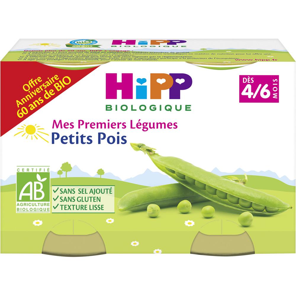 petit pots mes premiers l gumes petits pois 2x125 g de hipp sur allob b. Black Bedroom Furniture Sets. Home Design Ideas