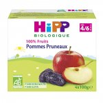 Coupelles 100% fruits pommes pruneaux pas cher