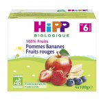 Coupelles 100% fruits pommes bananes fruits rouges pas cher