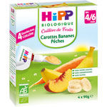 Gourde carottes bananes pêches 4 x 90 g pas cher