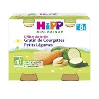 Petits pots gratin de courgettes petits légumes