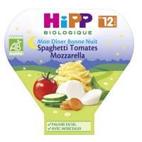 Assiette spaghetti tomates mozzarella 230 g