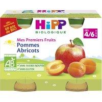 Petits pots mes premiers fruits: pommes abricots
