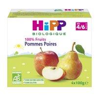 Coupelles 100% fruits pommes poires