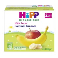 Coupelles 100% fruits pommes bananes