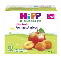 Coupelles 100% fruits pommes abricots