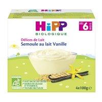 Semoule au lait vanille 4 x 100 g