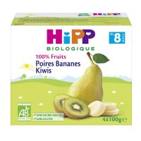 Coupelles 100% fruits poires bananes kiwis