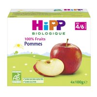 Coupelles 100% fruits pommes
