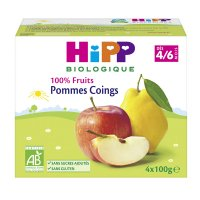 Coupelles 100% fruits pommes coings
