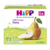 Coupelles 100% fruits poires