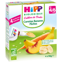 Gourde carottes bananes pêches 4 x 90 g