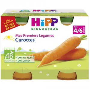 Hipp Carottes dès 4 mois 2x125g dès 4 mois