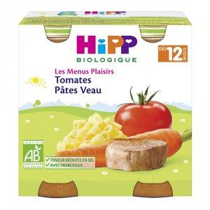 Hipp Tomates pâtes veau 250g dès 12 mois