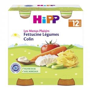 Hipp Fettucine légumes colin 2x250 g dès 12 mois
