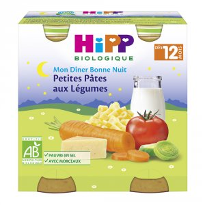 Hipp Petits pots petites pâtes aux légumes