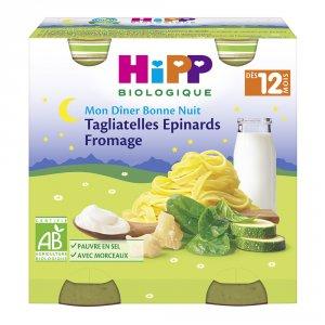 Petits pots tagliatelles fromage epinards