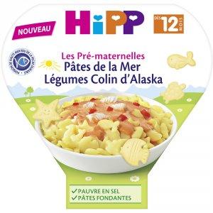 Hipp Assiette pâtes de la mer légumes colin d'alaska 230g