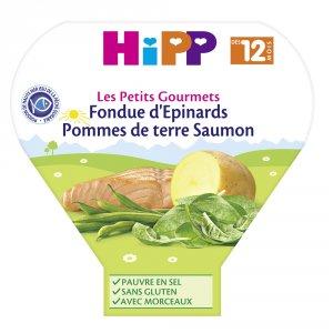 Hipp Fondue d'épinards pommes de terre saumon 230 g dès 12 mois