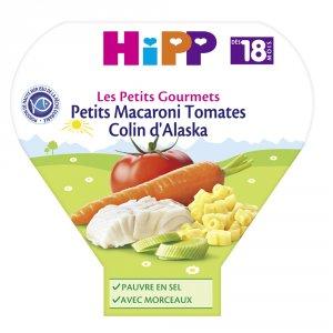 Hipp Petits macaroni tomates colin d'alaska 260 g dès 18 mois