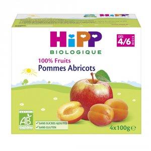 Coupelles 100% fruits pommes abricots