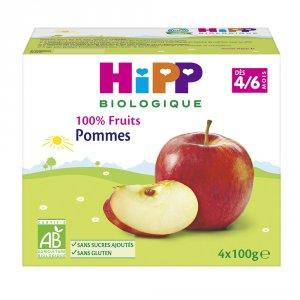 Coupelles 100% fruits pommes