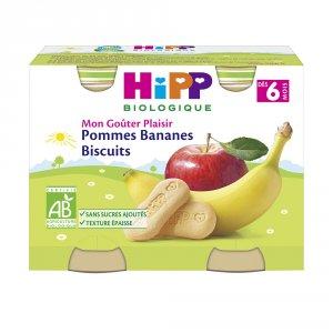 Pommes bananes biscuits 190 g dès 6 mois