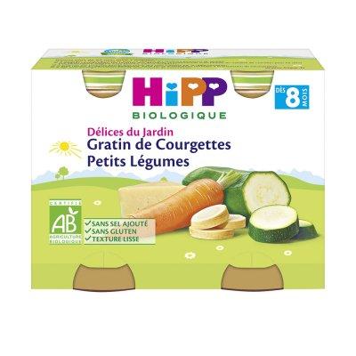 Petits pots gratin de courgettes petits légumes Hipp