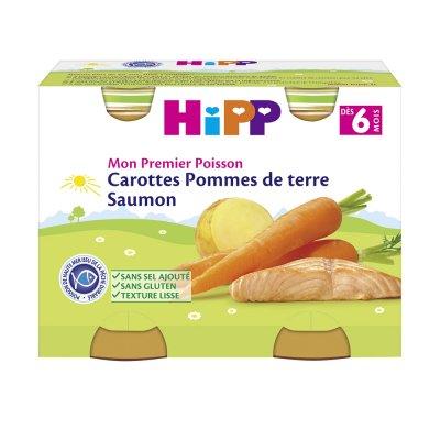 Carottes pommes de terre saumon 2x190 g dès 6 mois Hipp