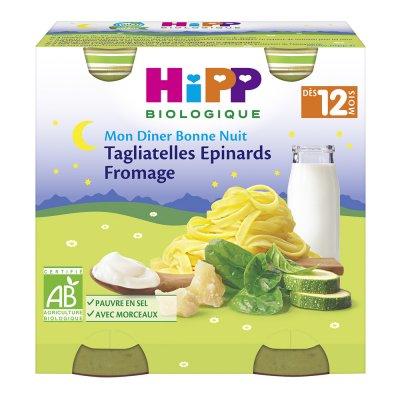 Petits pots tagliatelles fromage epinards Hipp