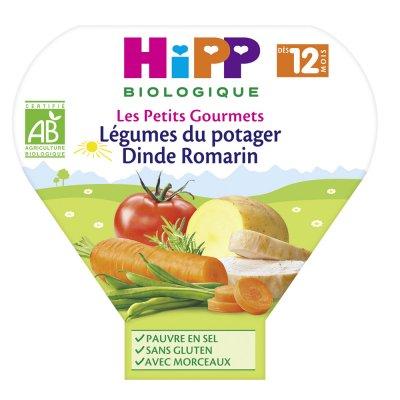 Légumes du potager dinde romarin 230 g dès 12 mois Hipp