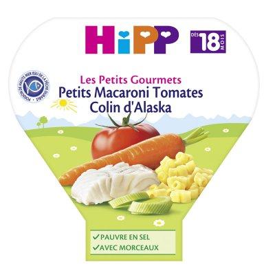 Petits macaroni tomates colin d'alaska 260 g dès 18 mois Hipp