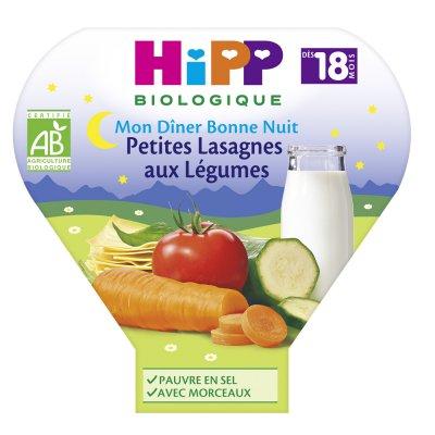 Assiette petites lasagnes aux légumes 260 g Hipp