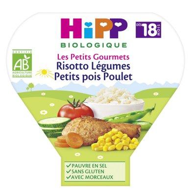 Risotto légumes petits pois poulet 260 g dès 18 mois Hipp