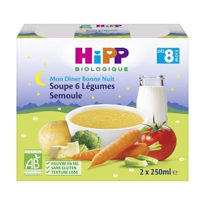 Briques soupe aux 6 légumes et semoule 2 x 250 ml Hipp