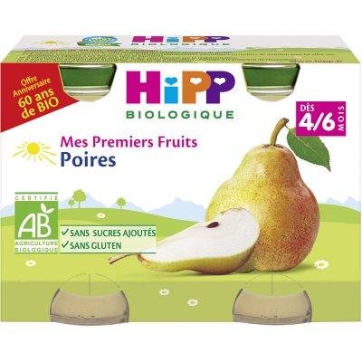 Petits pots mes premiers fruits: poires Hipp