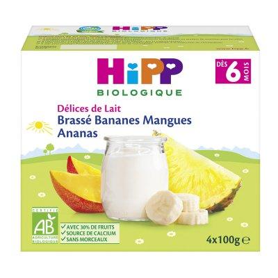 Brassé bananes mangues ananas 4x100 g dès 6 mois Hipp