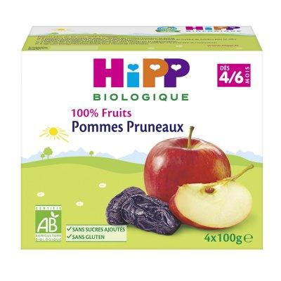 Coupelles 100% fruits pommes pruneaux Hipp