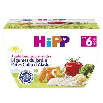 Bol légumes du jardin pâtes colin d'alaska Hipp