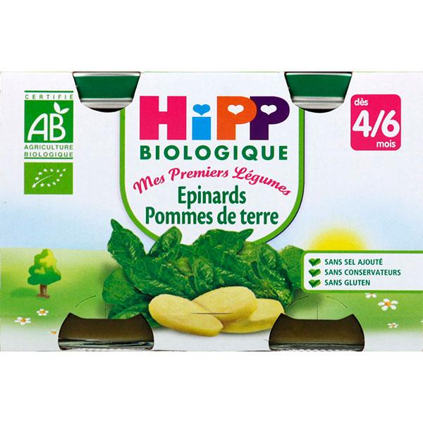 Petits pots epinards pommes de terre Hipp