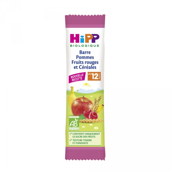 Barre pommes fruits rouges et céréales Hipp