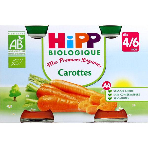 Petits pots carottes Hipp